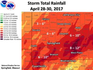 April 28-20, 2017 Storm Totals